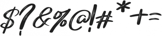Merci Heart Brush Slant Italic otf (400) Font OTHER CHARS