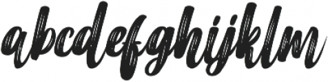 Merci Heart Brush Slant Italic otf (400) Font LOWERCASE