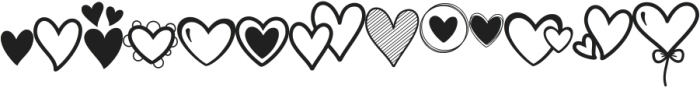 Merciful Heart Doodle ttf (400) Font LOWERCASE