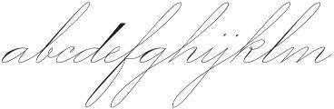 Mercy One Thin otf (100) Font LOWERCASE