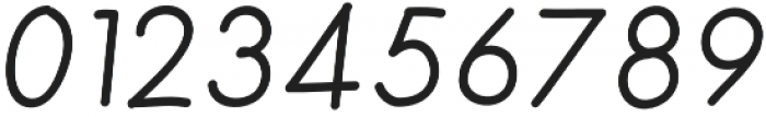 Merendina Regular Slanted otf (400) Font OTHER CHARS