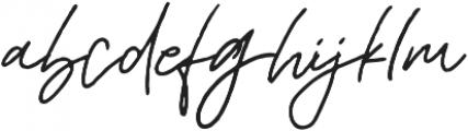 Mereoleona Script Alt otf (400) Font LOWERCASE