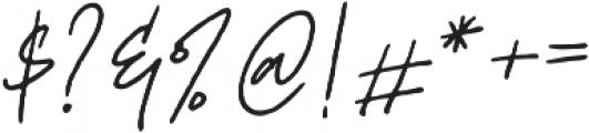 Mereoleona Script otf (400) Font OTHER CHARS