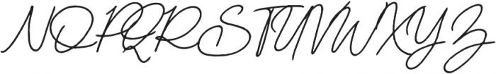 Mereoleona Script otf (400) Font UPPERCASE