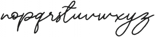 Mereoleona Script otf (400) Font LOWERCASE