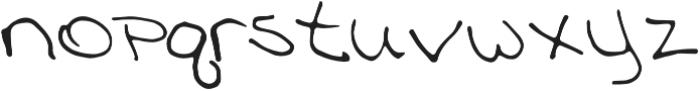 Meringue Regular otf (400) Font LOWERCASE