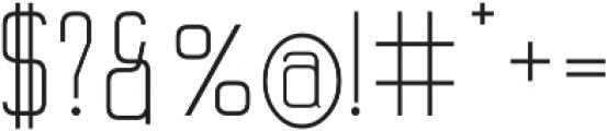 Merlin Regular otf (400) Font OTHER CHARS