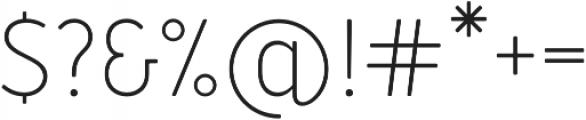 Merlo Light otf (300) Font OTHER CHARS