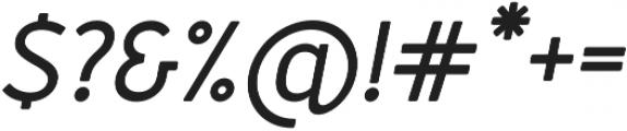 Merlo Round Bold Italic otf (700) Font OTHER CHARS