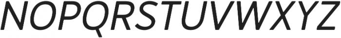 Merlo Round Bold Italic otf (700) Font UPPERCASE