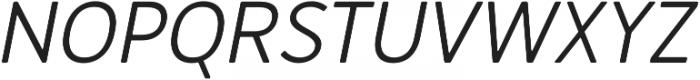 Merlo Round Medium Italic otf (500) Font UPPERCASE