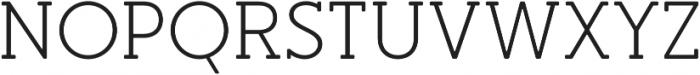 Merlo Round Serif Regular otf (400) Font UPPERCASE