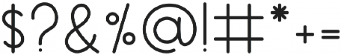 Merriment Sans otf (400) Font OTHER CHARS