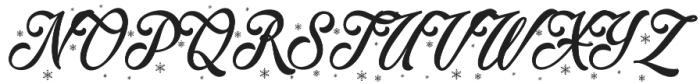 Merry Christmas Flake otf (400) Font UPPERCASE