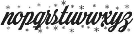 Merry Christmas Flake otf (400) Font LOWERCASE