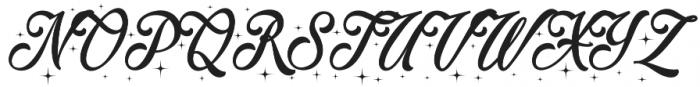 Merry Christmas Star otf (400) Font UPPERCASE