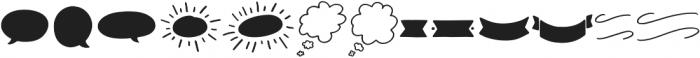Message In A Bottle Doodles Regular otf (400) Font LOWERCASE