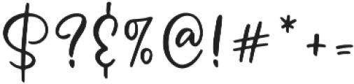 Message In A Bottle Sans Regular otf (400) Font OTHER CHARS