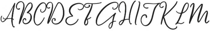 Message In A Bottle Script Alternates Regular otf (400) Font UPPERCASE