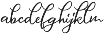 Message In A Bottle Script Alternates Regular otf (400) Font LOWERCASE