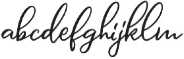 Message In A Bottle Script Regular otf (400) Font LOWERCASE