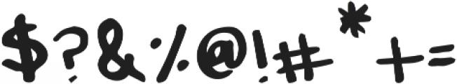 Messy Marker Regular otf (400) Font OTHER CHARS