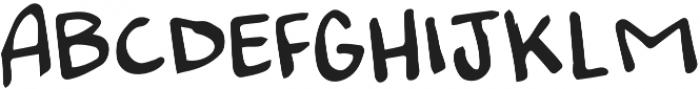 Messy Marker Regular otf (400) Font UPPERCASE