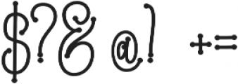 Metafora  Bold  otf (700) Font OTHER CHARS