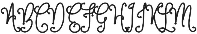 Metafora  Bold  otf (700) Font UPPERCASE