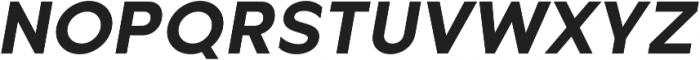 Metrisch Bold Italic otf (700) Font UPPERCASE