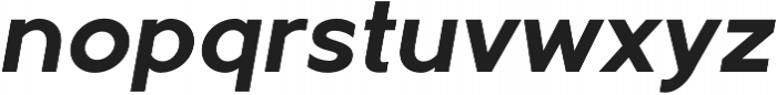 Metrisch Bold Italic otf (700) Font LOWERCASE