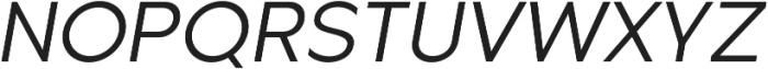 Metrisch Book Italic otf (400) Font UPPERCASE