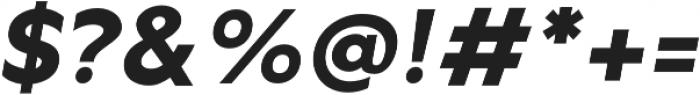 Metrisch ExtraBold Italic otf (700) Font OTHER CHARS