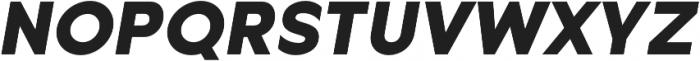 Metrisch ExtraBold Italic otf (700) Font UPPERCASE