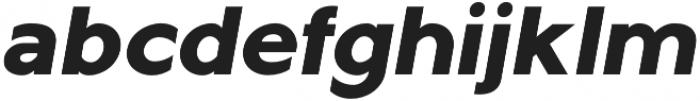 Metrisch ExtraBold Italic otf (700) Font LOWERCASE