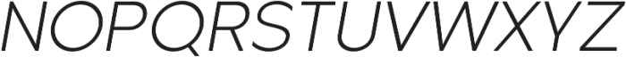 Metrisch Light Italic otf (300) Font UPPERCASE