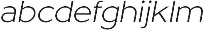 Metrisch Light Italic otf (300) Font LOWERCASE