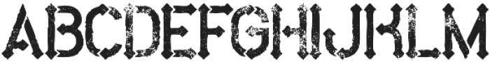 Metro Grunge otf (400) Font LOWERCASE