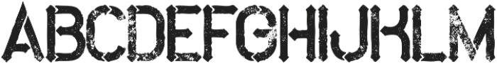 Metro bold grunge otf (700) Font UPPERCASE