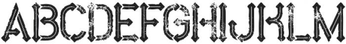 Metro inline grunge otf (400) Font LOWERCASE