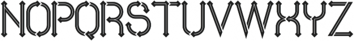 Metro  inline otf (400) Font UPPERCASE