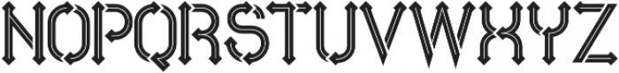 Metro  inline otf (400) Font LOWERCASE