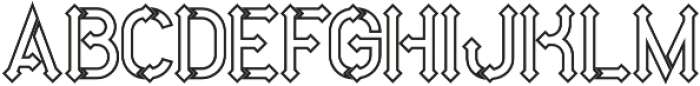 Metro outline otf (400) Font LOWERCASE