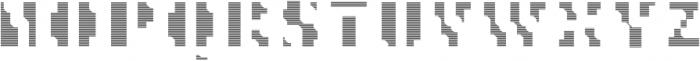 MetroBots otf (400) Font UPPERCASE