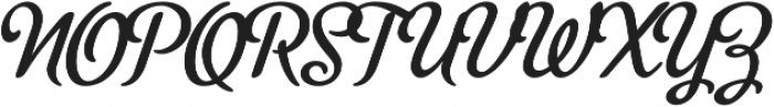 MetroScript Regular otf (400) Font UPPERCASE