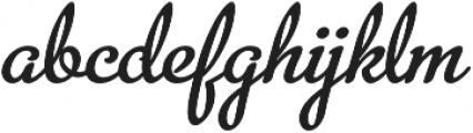 MetroScript Regular otf (400) Font LOWERCASE
