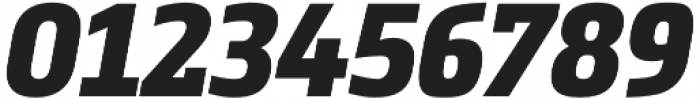 Metronic Slab Narrow Black Italic otf (900) Font OTHER CHARS