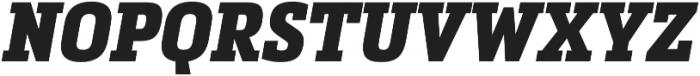 Metronic Slab Narrow Black Italic otf (900) Font UPPERCASE