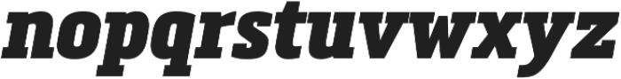 Metronic Slab Narrow Black Italic otf (900) Font LOWERCASE