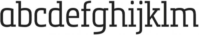 Metronic Slab Narrow Light otf (300) Font LOWERCASE